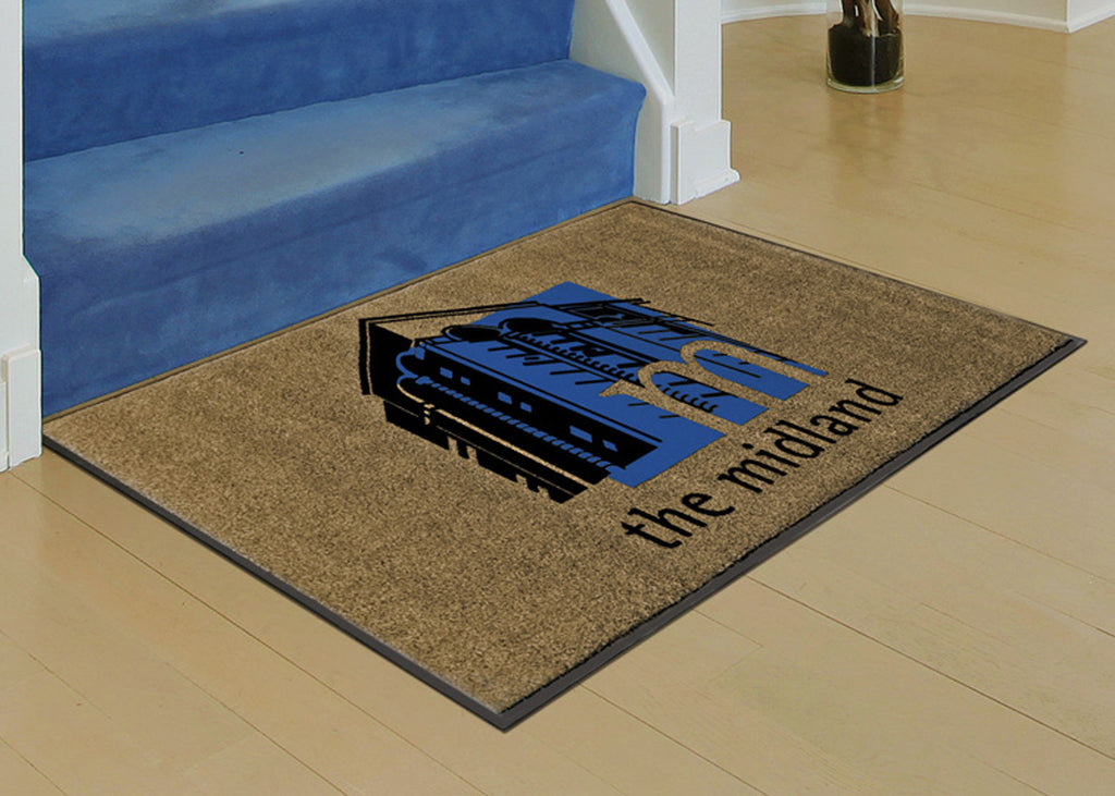 Flocked Olefin Logo Floor Mat Custom Logo Door Mats