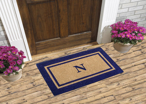 Navy Blue Double Picture Frame - Monogrammed Coco Doormats