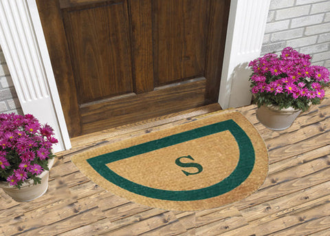 Single Border Half Round - Personalized Coco Doormats