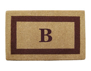 Single Border - Monogrammed Coco Coir Doormats