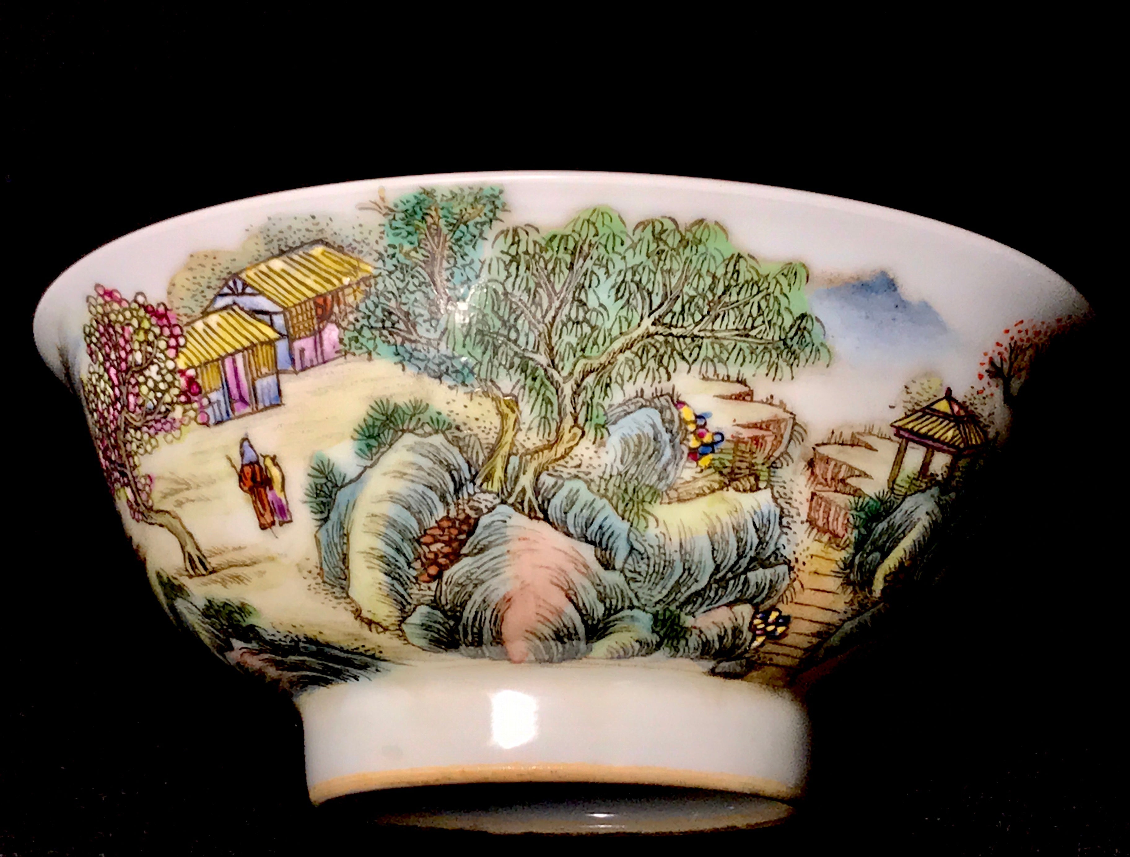 Qing Dynasty Bowl with Qianlong Seal - 10 Dynasties
