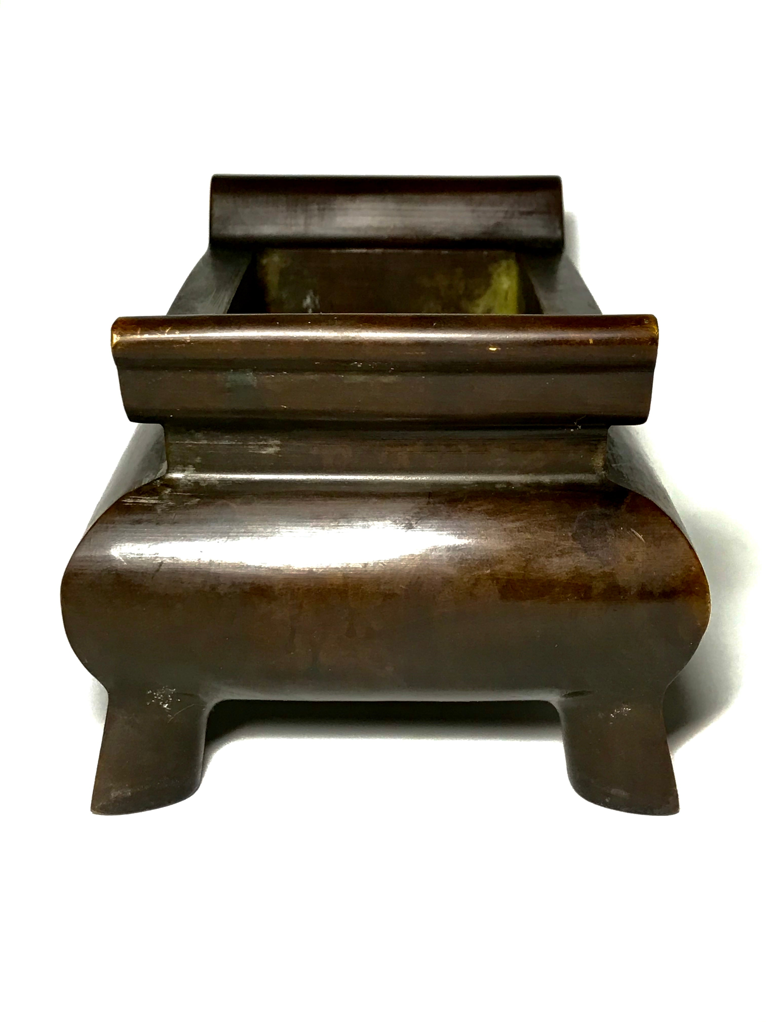 bronze censer with xuande mark