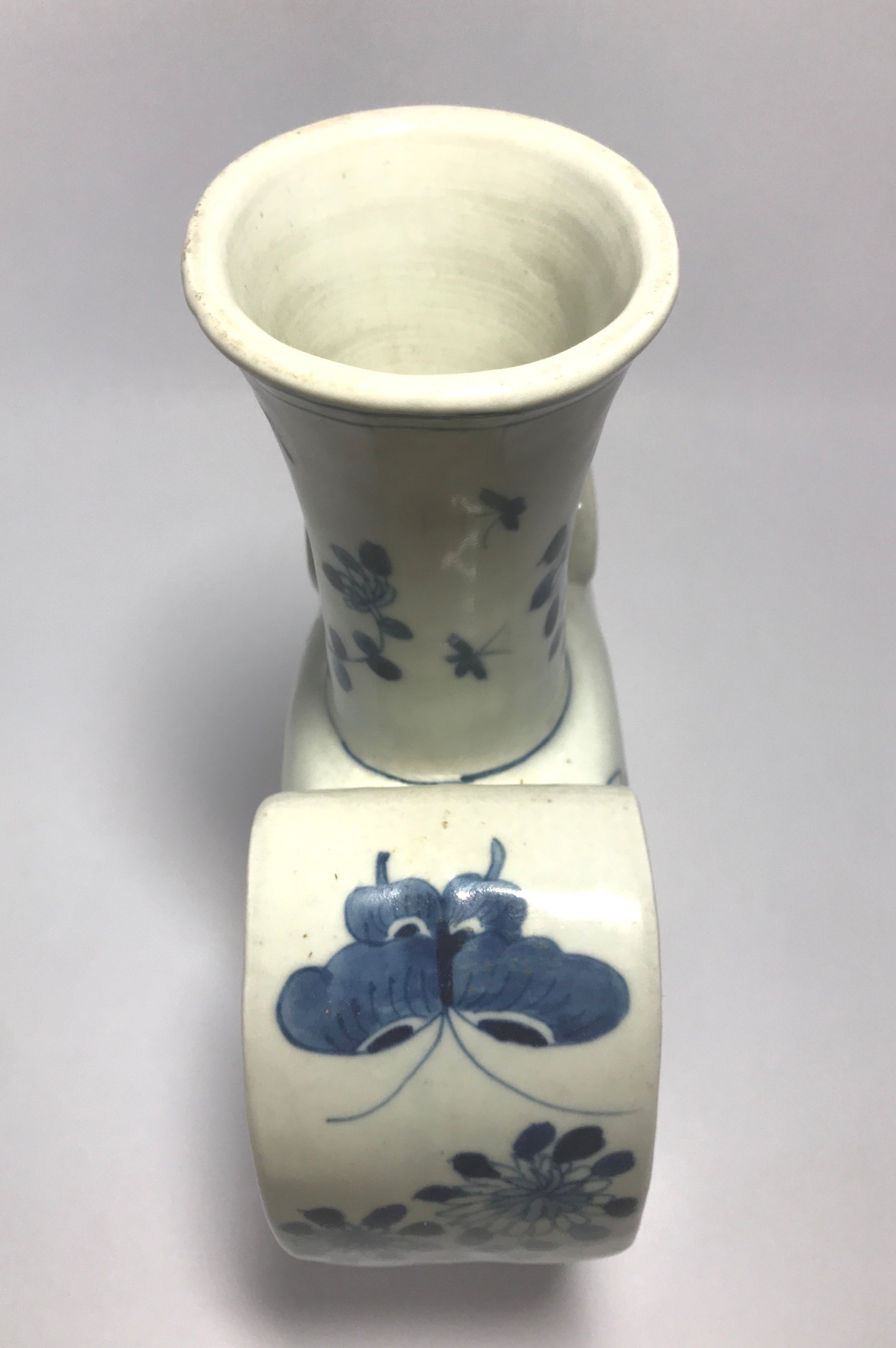 Qing Dynasty Heart Shaped Vase with Kangxi Mark