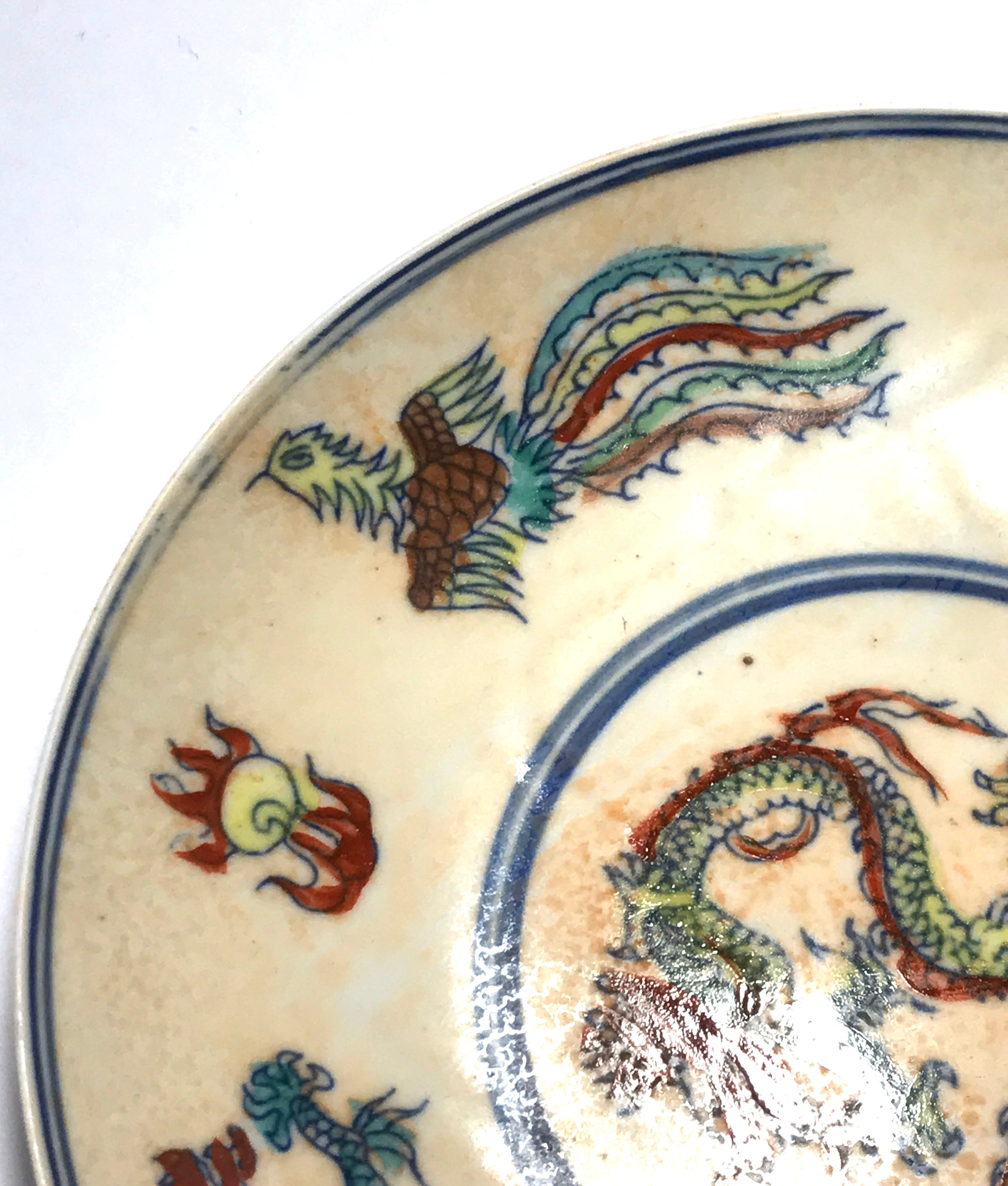 A Pair of Ming Dynasty Doucai Sauce Dishes or Small Plates