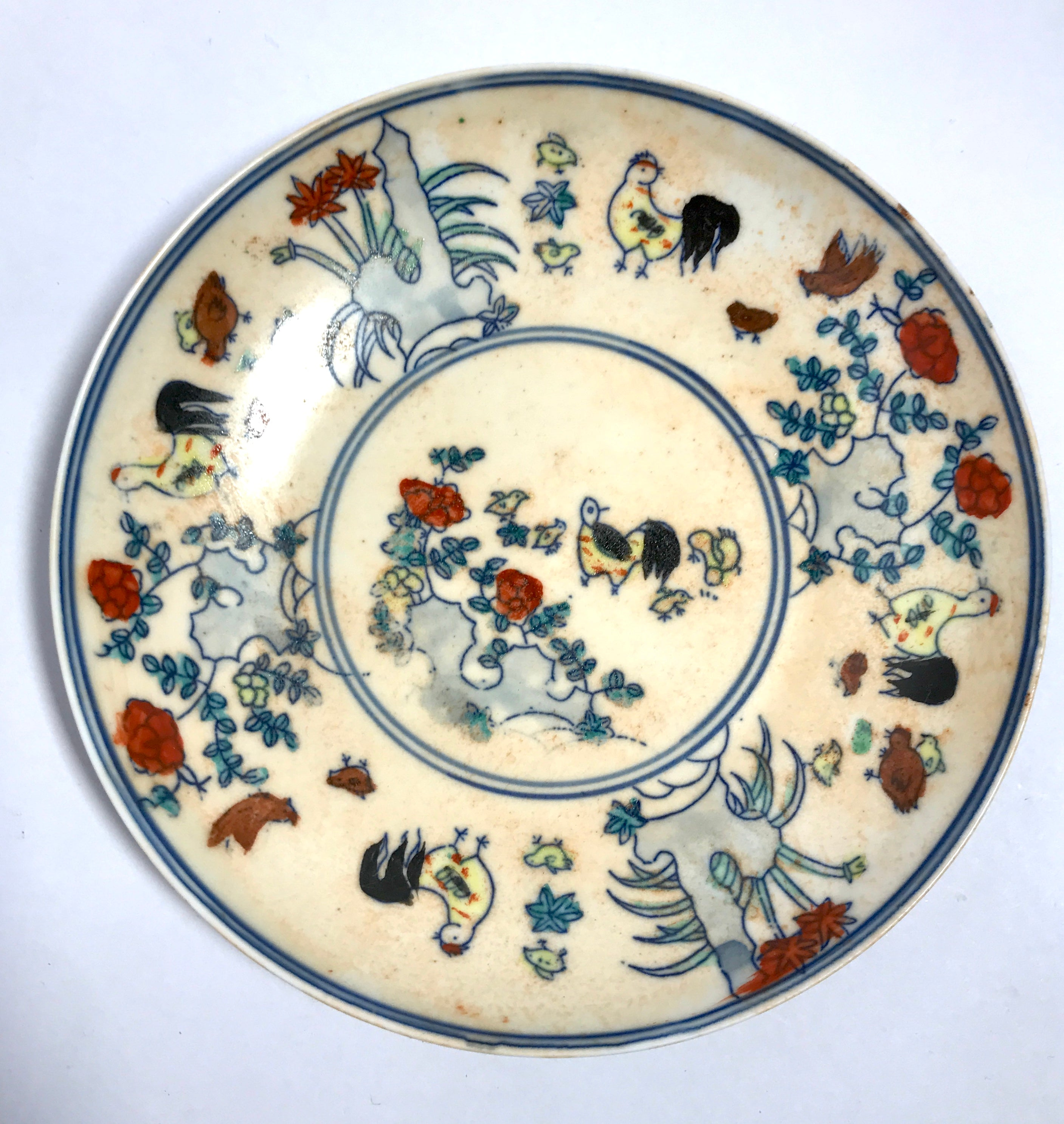 doucai dish with dragon