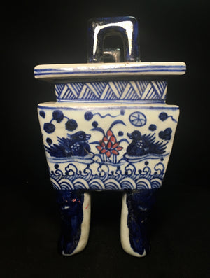 Ming Dynasty Blue and White Porcelain Urn with Xuande Seal - 10 Dynasties