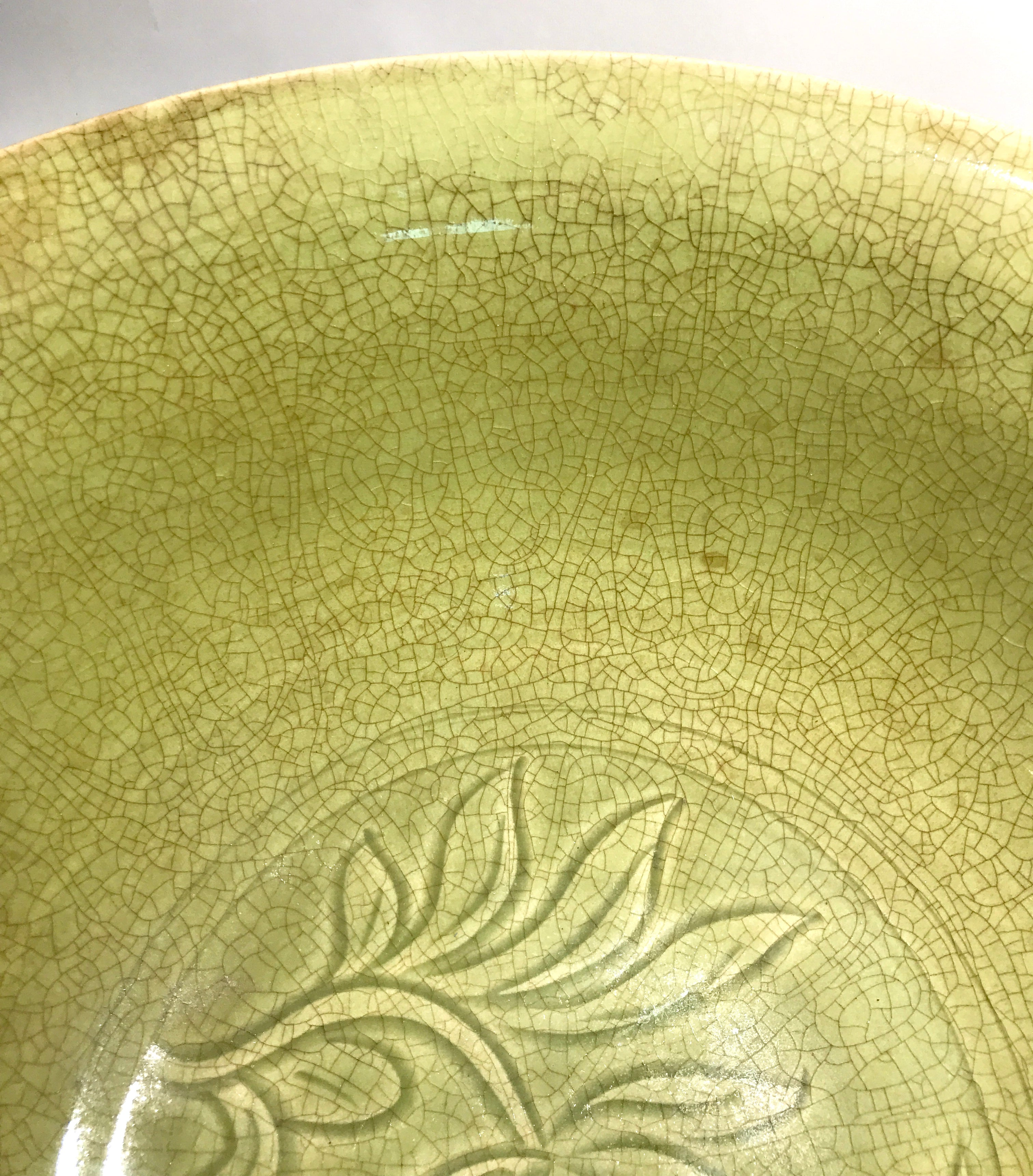 A Very Large Longquan/Celadon Bowl - 10 Dynasties