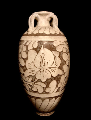 carved cizhou jar