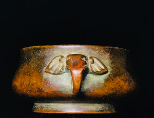qing dynasty bronze censer with elephant ears