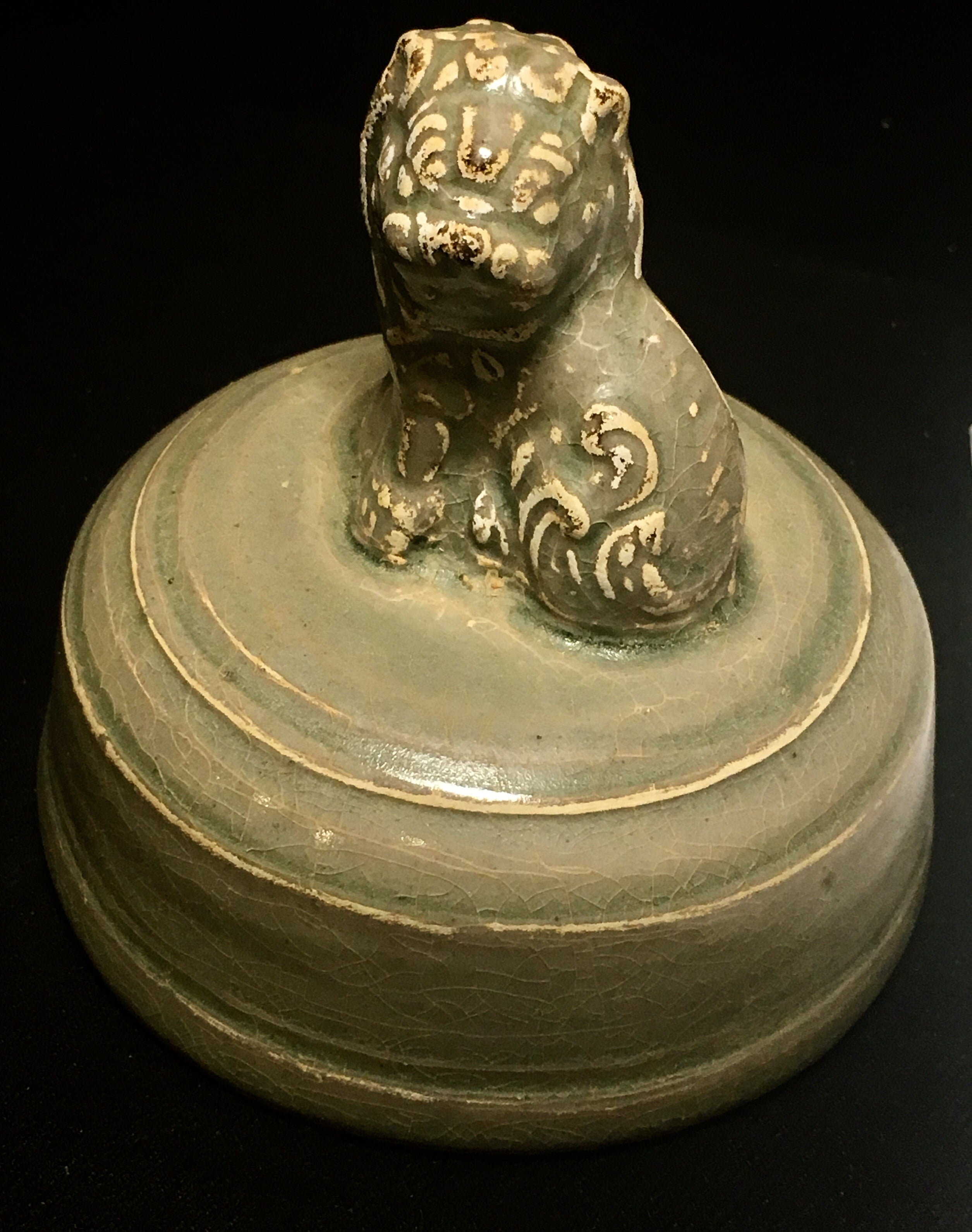 Song Celadon Lidded Jar - 10 Dynasties