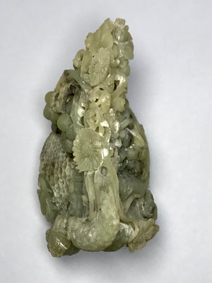 Carved Nephrite Fruit Basket - 10 Dynasties