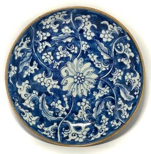 kangxi blue and white charger with lotus