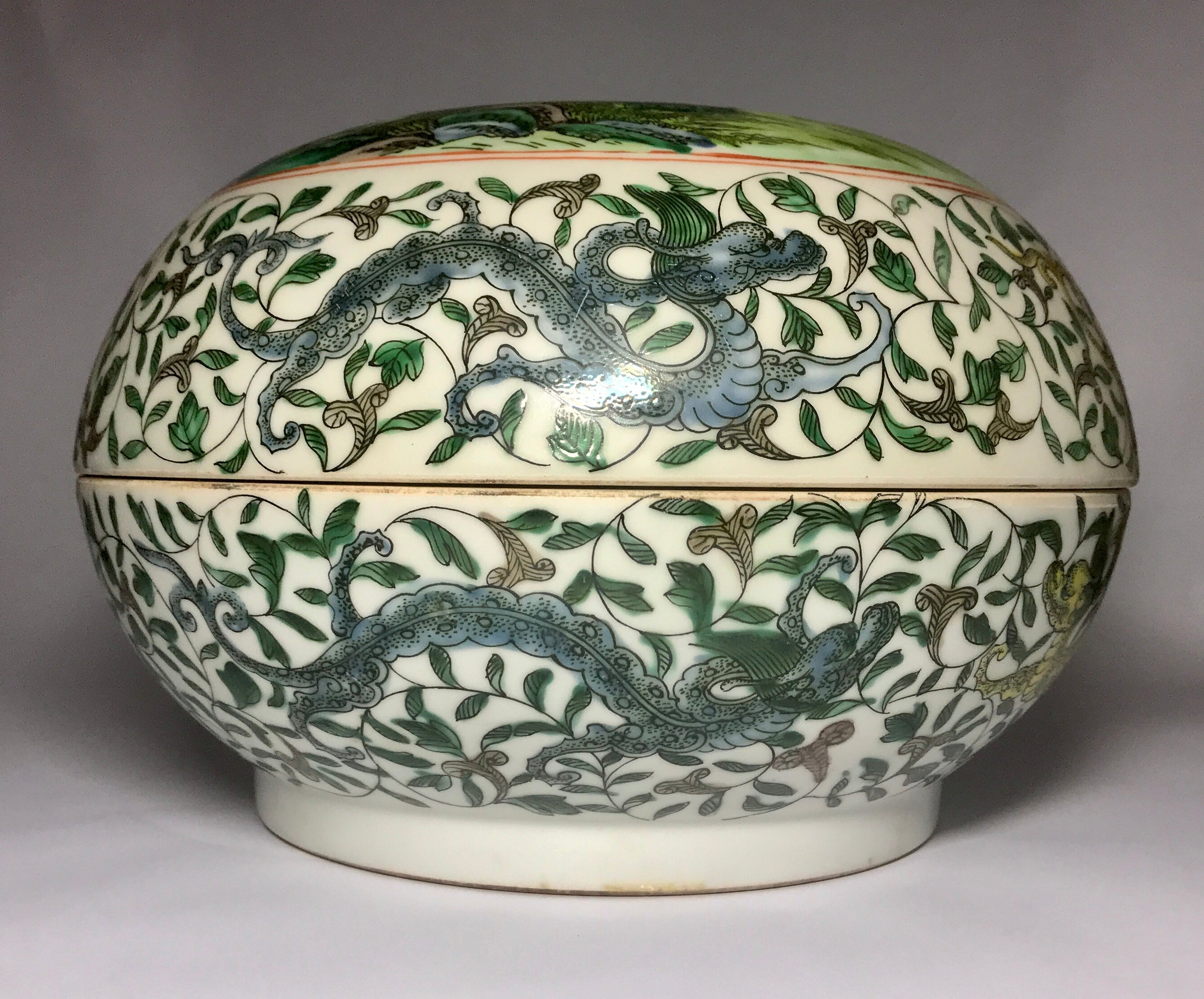 Qing Dynasty Round Box with Kangxi Mark - 10 Dynasties