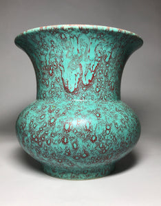 qianlong robin's egg glaze spittoon