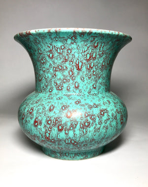 qing dynasty robin's egg glaze spittoon