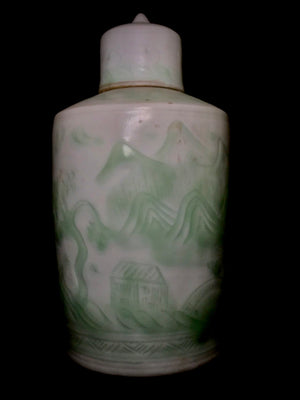Qianlong Lidded Jar - 10 Dynasties