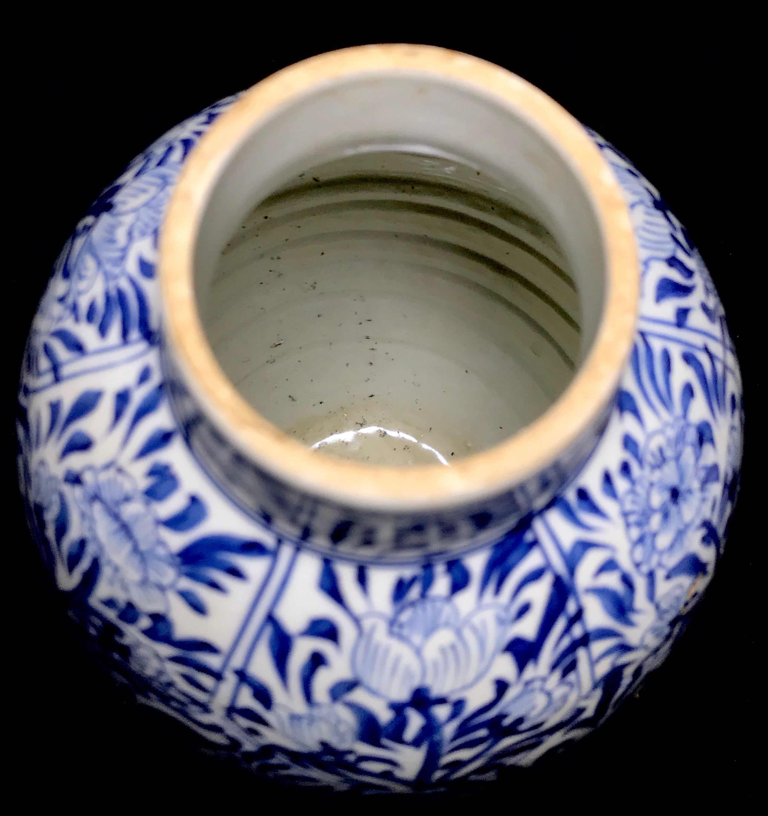 Qing Dynasty Lidded Jar with Kangxi mark / Leaf - 10 Dynasties
