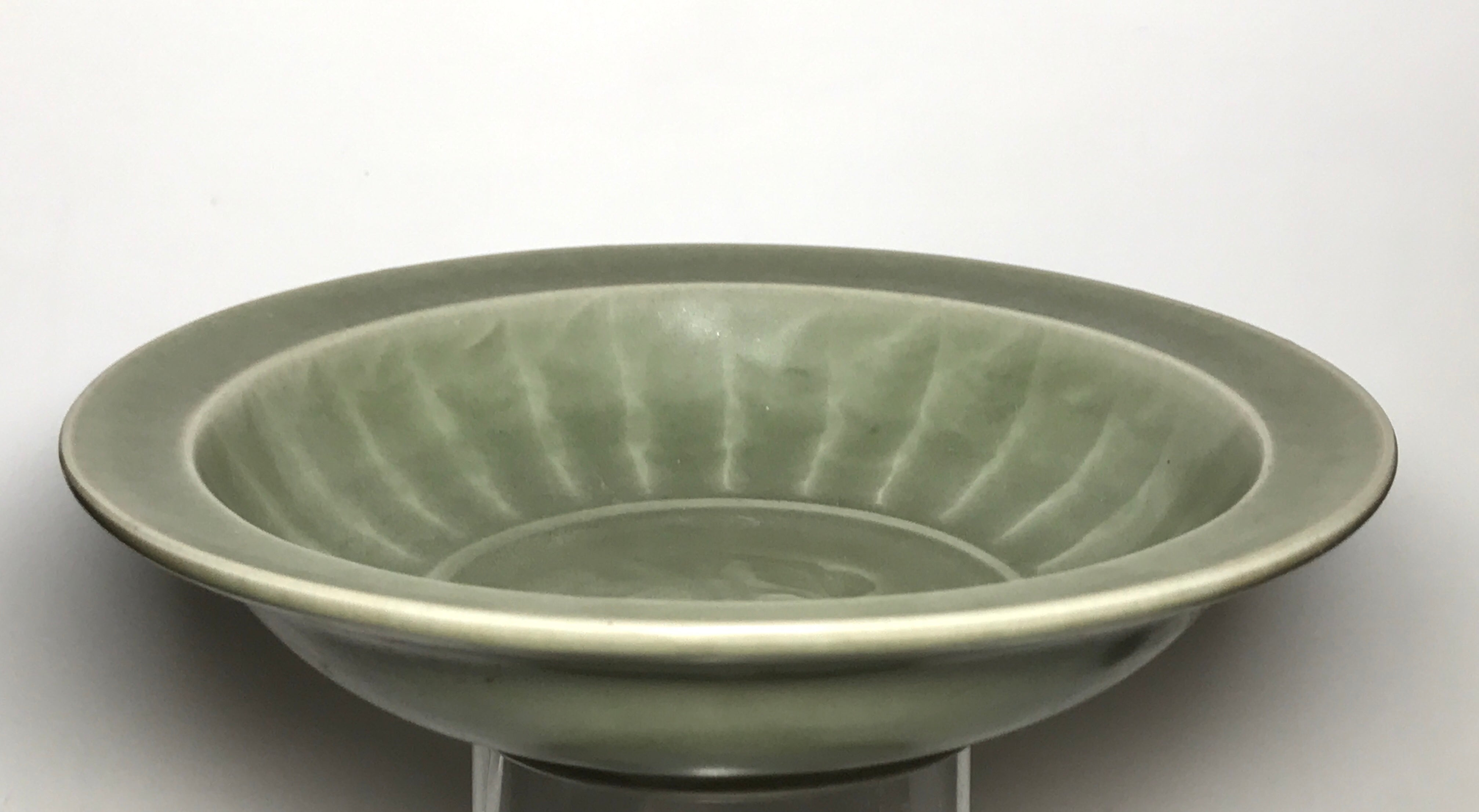 longquan bowl with relief dragon