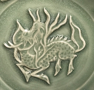 song celadon plate with phoenix