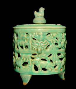 song celadon lidded urn