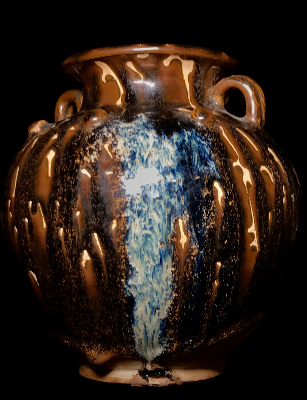 A Lushan phosphatic splash-glazed baluster jar - 10 Dynasties