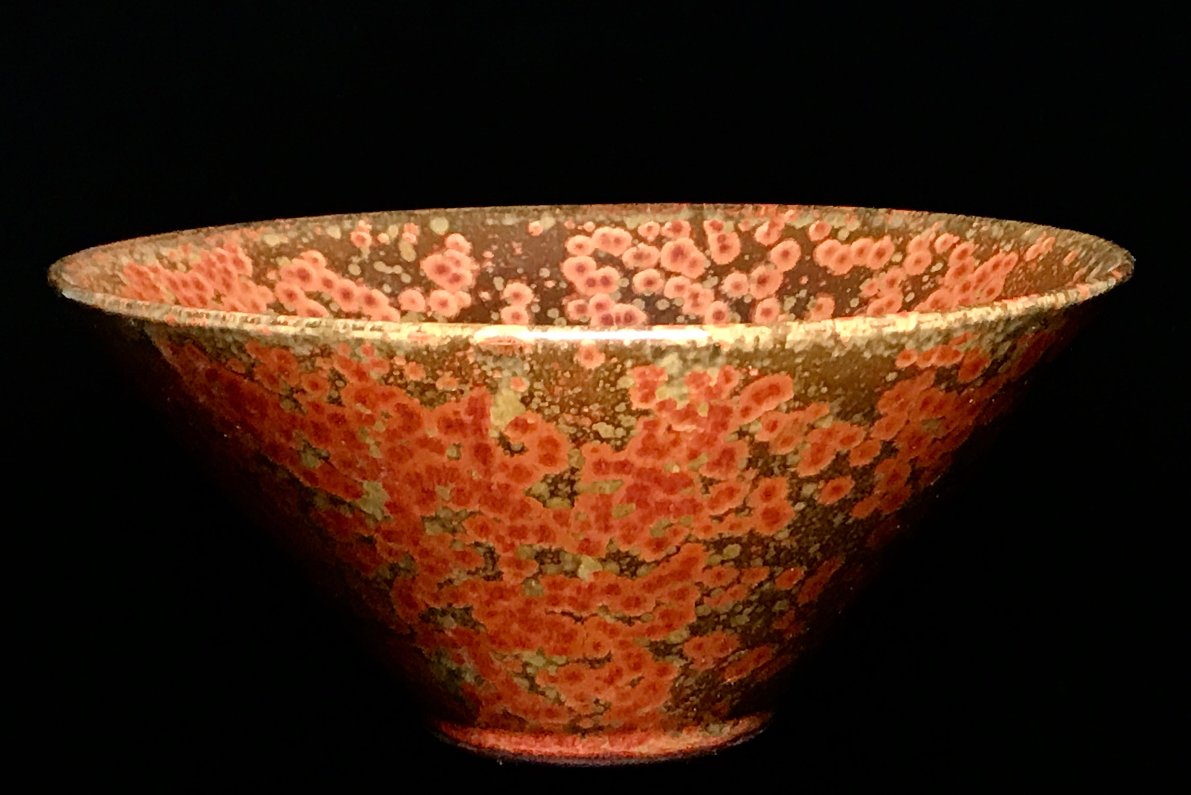 Rare Song Dynasty Oil Splash Rust Conical Bowl - 10 Dynasties