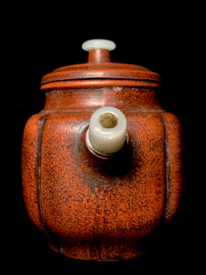 Yixing Teapot with jade handle and spout