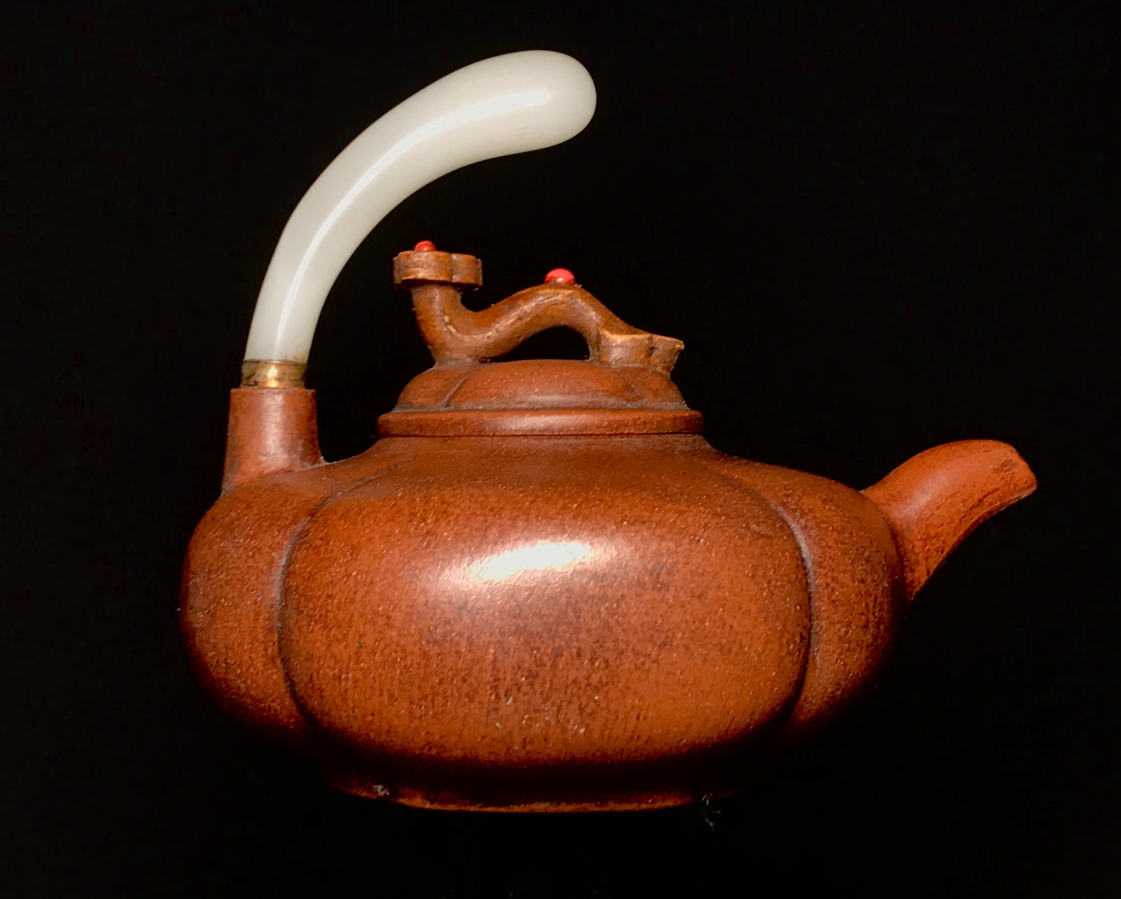 Yixing Teapot with White Jade Handle