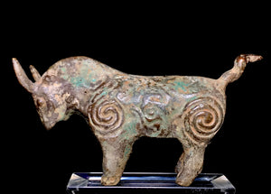 ancient asian bronze bull