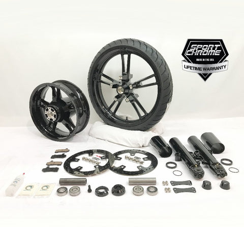 reinforcer black wheel set and black front end kit