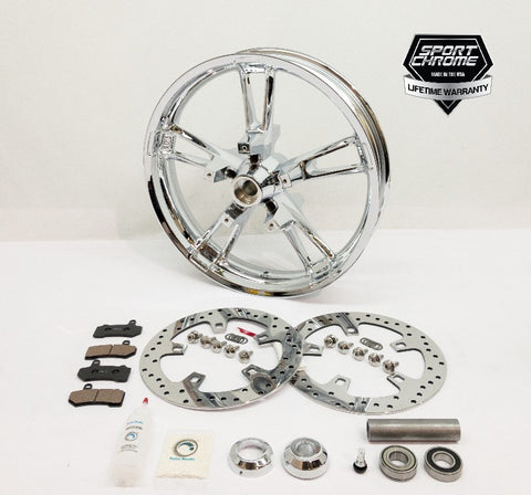 Enforcer chrome front wheel package