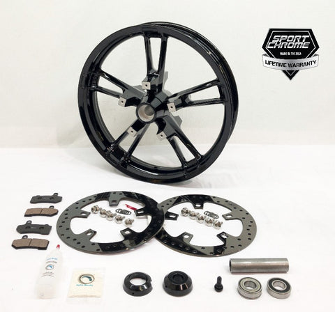 black enforcer front wheel package