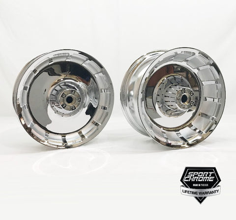 Harley Fat Boy Chrome Wheels By Sport Chrome - 2018 harley davidson invoice prices
