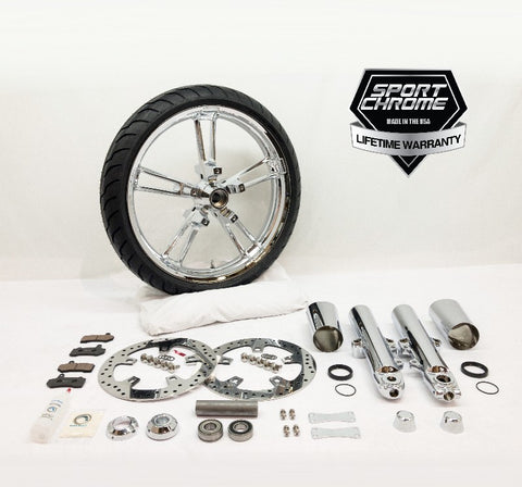 Reinforcer 21 inch chrome front wheel and chrome front end package