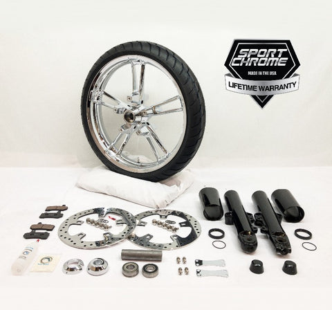 reinforcer chrome front wheel and black front end kit