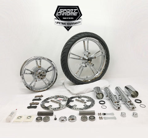 Reinforcer chrome wheel and front end kit