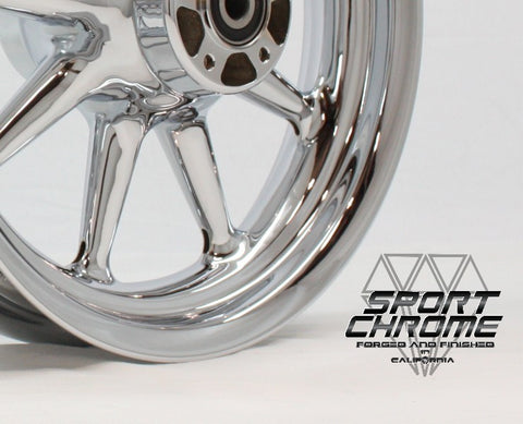 9 spoke chrome harley wheel
