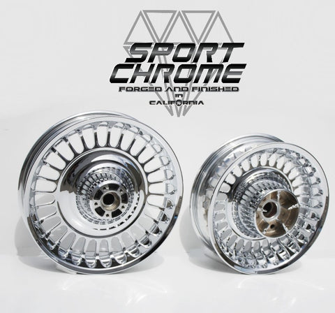 28 Spoke Chrome Wheels for Harley Road King Electra Ultra