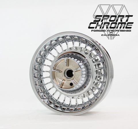 Rear chrome 28 spoke wheel