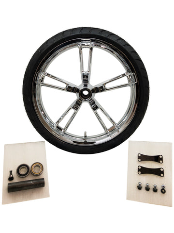 reinforcer 21 inch chrome front wheel