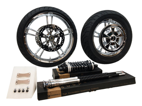 Sport chrome wheel and suspension package fro street glide and road glide