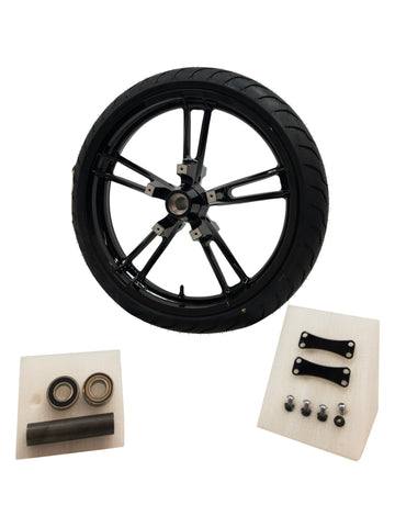 Piano Black Reinforcer front wheel and tire 21 inch for Harley street glide