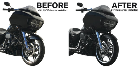 reinforcer 21 inch front wheel before and after on street glide