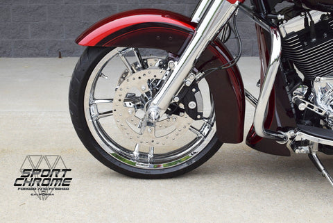 Street Glide Chrome Wheels Enforcer Chrome Rims Road Glide Chromed by Sport Chrome