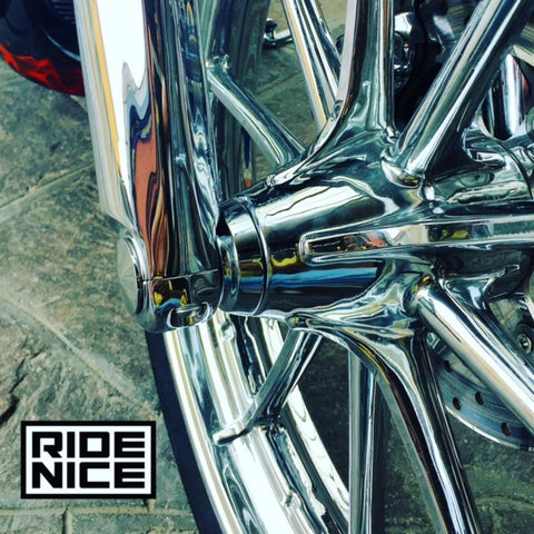 Ride Nice Breakout front wheel spacers in chrome