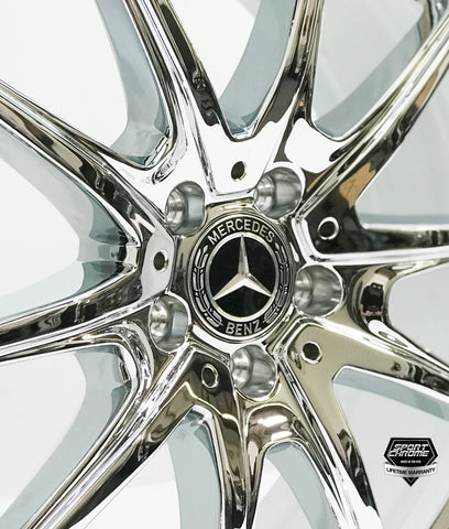Mercedes s560 chrome wheels