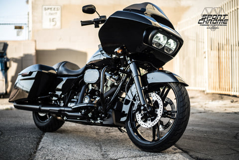 road glide with black enforcer wheels