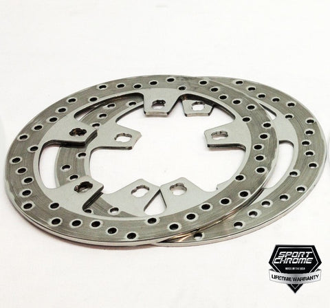 polished brake discs for street glide