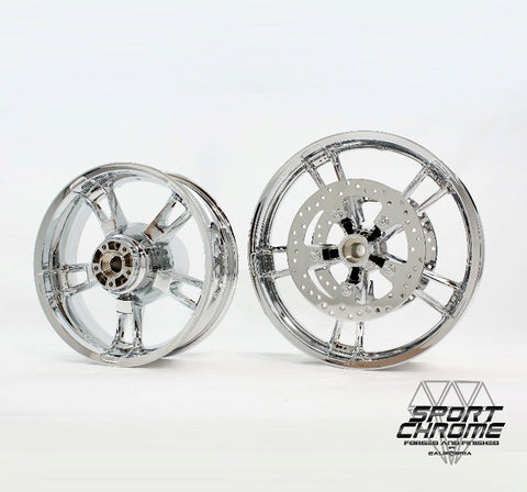 Enforcer Street Glide Chrome Wheels by Sport Chrome