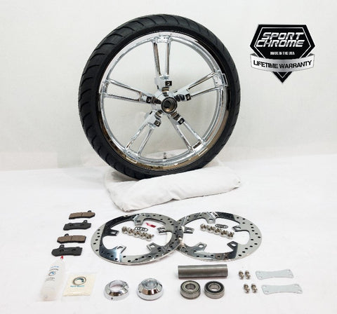 Reinforcer Chrome Front Wheel Package